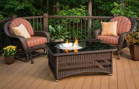 Natural Gas Fireplace/ Table Installation